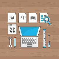 tecnologia de programação e codificação vetor