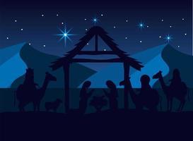 a natividade do design de Jesus vetor