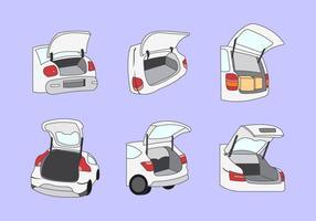 Ilustração vetorial do boot do carro