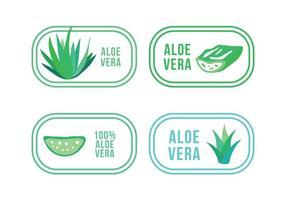 Conjunto de logotipos de aloe e maguey vetor