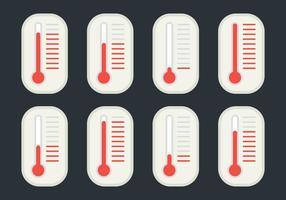 Soluções de temperatura diferentes vetor