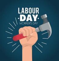 banner de celebração do dia do trabalho vetor