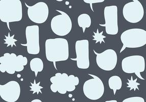Padrão das bolhas da fala vetor