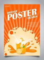 pôster para suco de laranja vetor