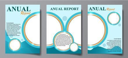 conjunto de relatórios anuais vetor