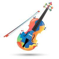 ícone de violino colorido vetor