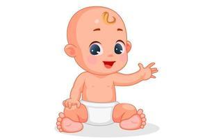 bebê fofo com expressão diferente