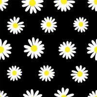padrão de fundo de flor de margarida vetor