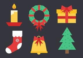 Vector de elementos de Natal grátis