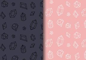 Vector de padrões de gemas grátis