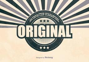 Antecedentes promocionais originais retro