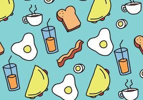 Padrão de comida de café da manhã vetor