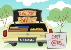 Ilustração da venda do carrinho de carro vetor