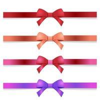 conjunto de arcos coloridos vetor