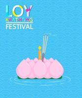 design do festival loy krathong vetor