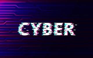 falha cibernética no fundo abstrato da tecnologia