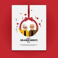 modelo de cartão de feliz dia dos avós vetor