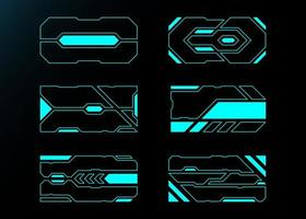 tecnologia futura interface hud frames vetor