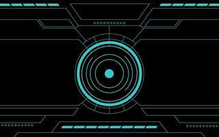 interface de tecnologia abstrata hud do painel de controle azul vetor