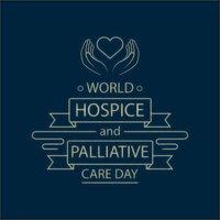 pôster do dia mundial de hospício e cuidados paliativos