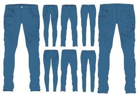 Modelos de jeans azuis vetor