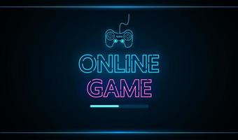 interface futura de tecnologia de jogo online hud vetor