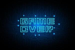 jogo de circuito acabado no design de tecnologia vetor
