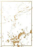 textura de folha de ouro com cartão de moldura de ouro vetor