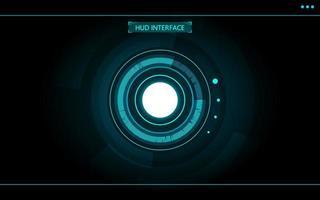 círculo azul abstrato tecnologia futurista hud vetor
