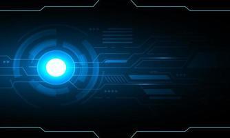 design futurista de tecnologia abstrato azul vetor