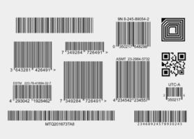 coleção de elementos de código de barras vetor
