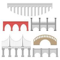 pontes definidas em branco vetor