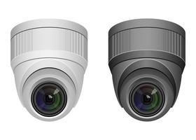 conjunto de câmera de vigilância vetor