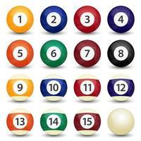 conjunto de bolas de bilhar vetor