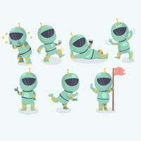 conjunto de personagens de astronautas vetor