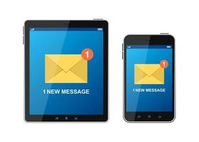 mensagem recebida no conjunto do dispositivo