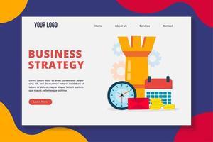 modelo de página de destino de conceito de estratégia de negócios vetor
