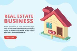conceito de negócio imobiliário vetor