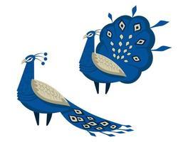 pavão com cauda linda vetor