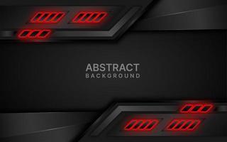 design em camadas futurista preto e vermelho