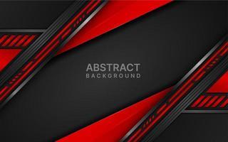 design de camadas angulares futuristas em vermelho e preto