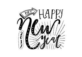 Rotulação do Ano Novo vetor