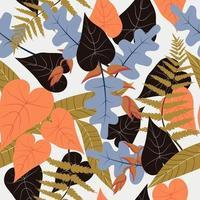 padrão de planta colorida de outono vetor