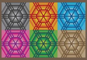 Padrões hexagonais huichol vetor