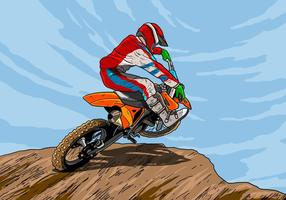 Dirt Bikes Rider toma ação vetor