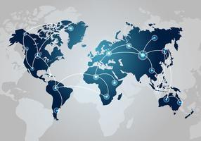 Vector de mapa do mundo tecnológico