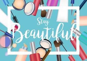 Conjunto de beleza do vetor de maquiagem