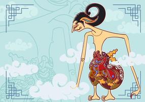 Ilustração de Wayang Arjuna vetor