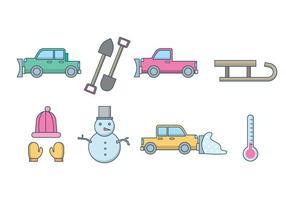 Free Snow Plough e Winter Vector