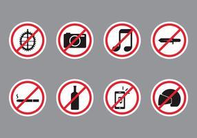 Sinal público proibido vetor
